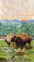 Gallery of Original Landscape Art Quilt Early June at Yellowstone