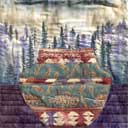 Gallery of Original Landscape Art Quilt Southwest Feather Pottery