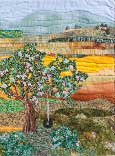 Gallery of Original Landscape Art Quilt Tire Swing on the Old  Apple Tree