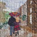 Gallery of Original Landscape Art Quilt Walking in the Rain