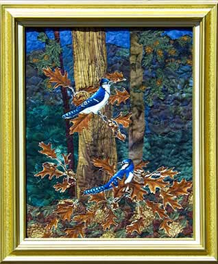 Happy JaysOriginal Landscape Quilt Art Quilt
