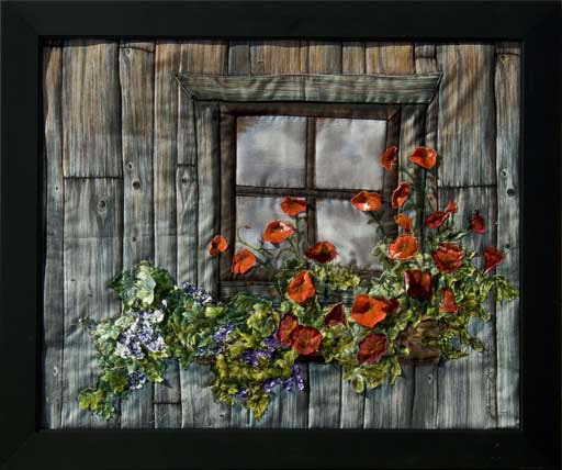 Cabin at KalalochOriginal Landscape Quilt Art Quilt