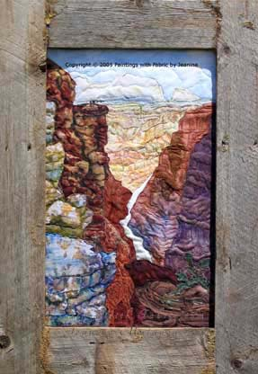 Grand Canyon VistaOriginal Landscape Quilt Art Quilt