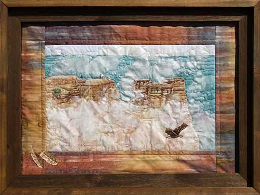 Grand Canyon, Mather PointOriginal Landscape Quilt Art Quilt