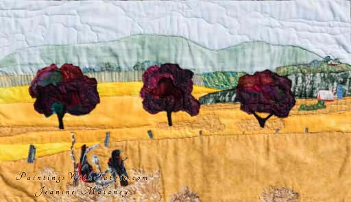 Fields AglowOriginal Landscape Quilt Art Quilt