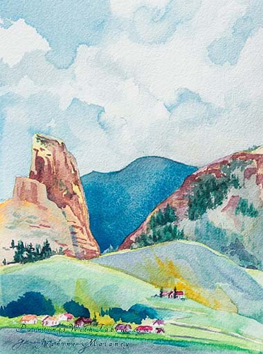 Creede, Colorado   - an Original Southwest Watercolor Painting