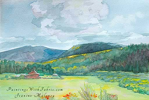 Mountain Haven - an Original Artwork Watercolor Painting