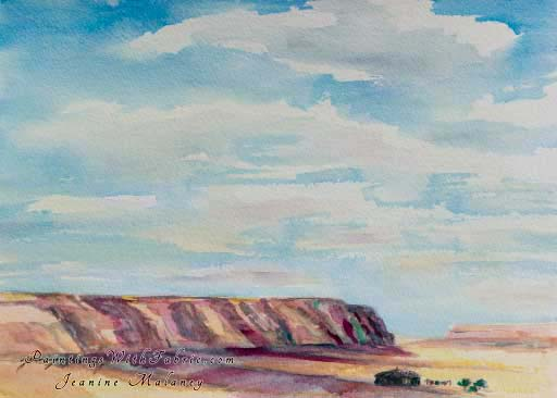 Navajo Land - an Original Southwest Watercolor Painting
