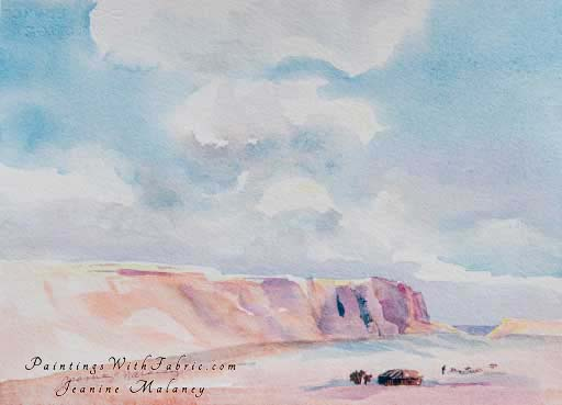 Navajo Sheep Herder - an Original Southwest Watercolor Painting