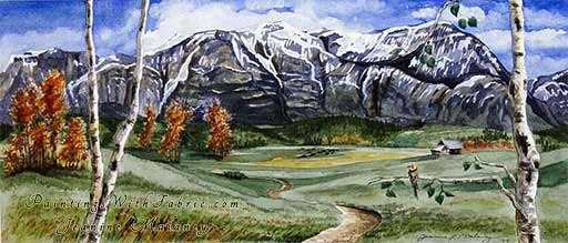Humbled - an Original Panorama Watercolor Painting