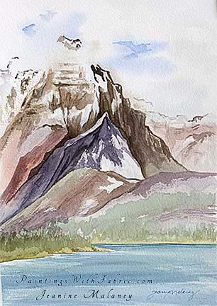 Many Glacier - an Original Landscape Watercolor Painting