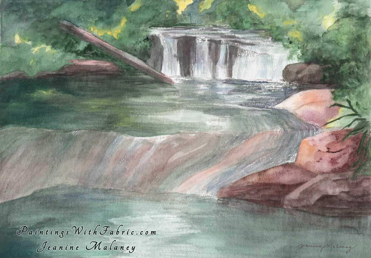 Mountain Stream  Unframed Original Watercolor Painting